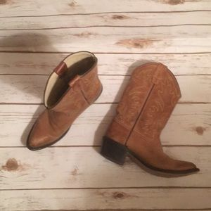 Women's cowboy boots brown leather size 6